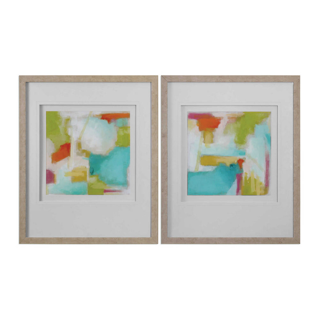 Color Space Framed Prints S/2 by Uttermost