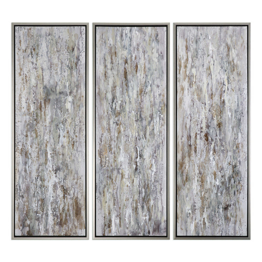 Shades of Bark Hand Painted Canvases S/3 by Uttermost