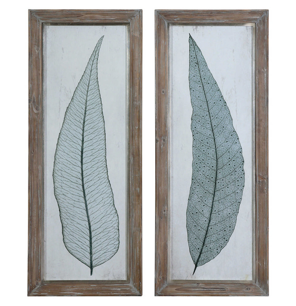 Tall Leaves Framed Prints S/2 by Uttermost