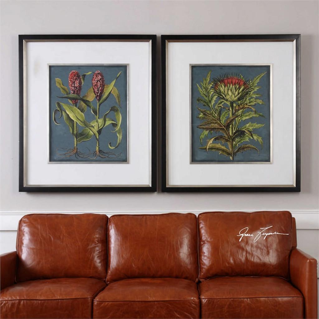 Rhubarb and Artichoke Set/2 - Framed Artwork a Prints Framed by Uttermost