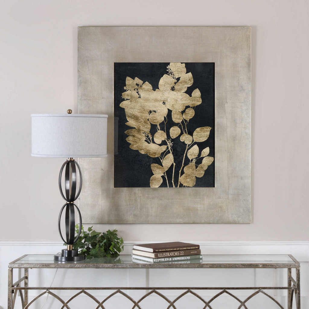 Custom Postage Leaves Framed Print by Uttermost