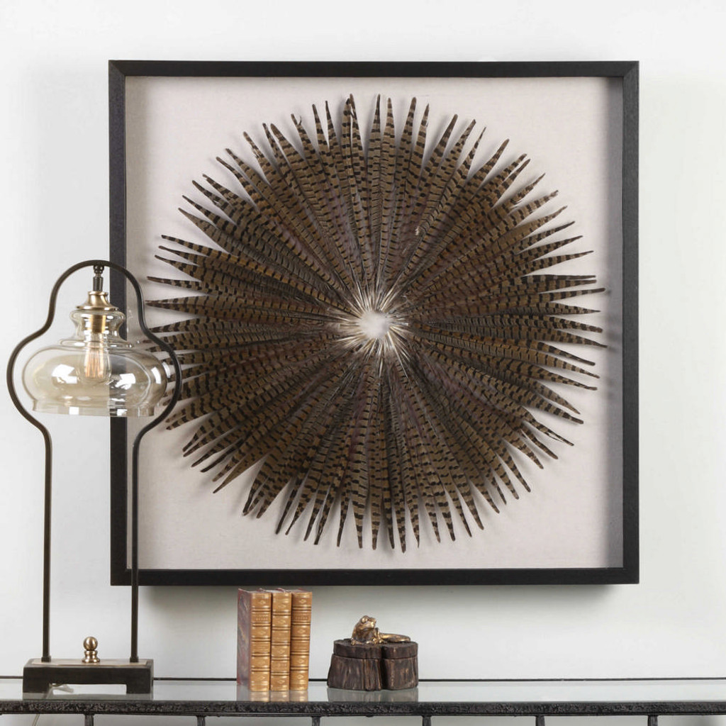 Feather Burst Shadow Box by Uttermost