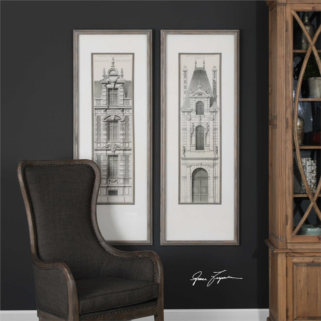 Castle Doors Framed Prints S/2 - by Uttermost
