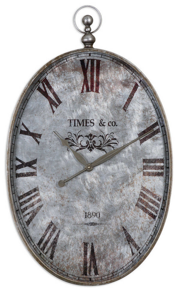 Argento Wall Clock by Uttermost