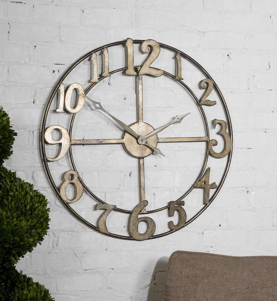 Delevan Wall Clock by Uttermost