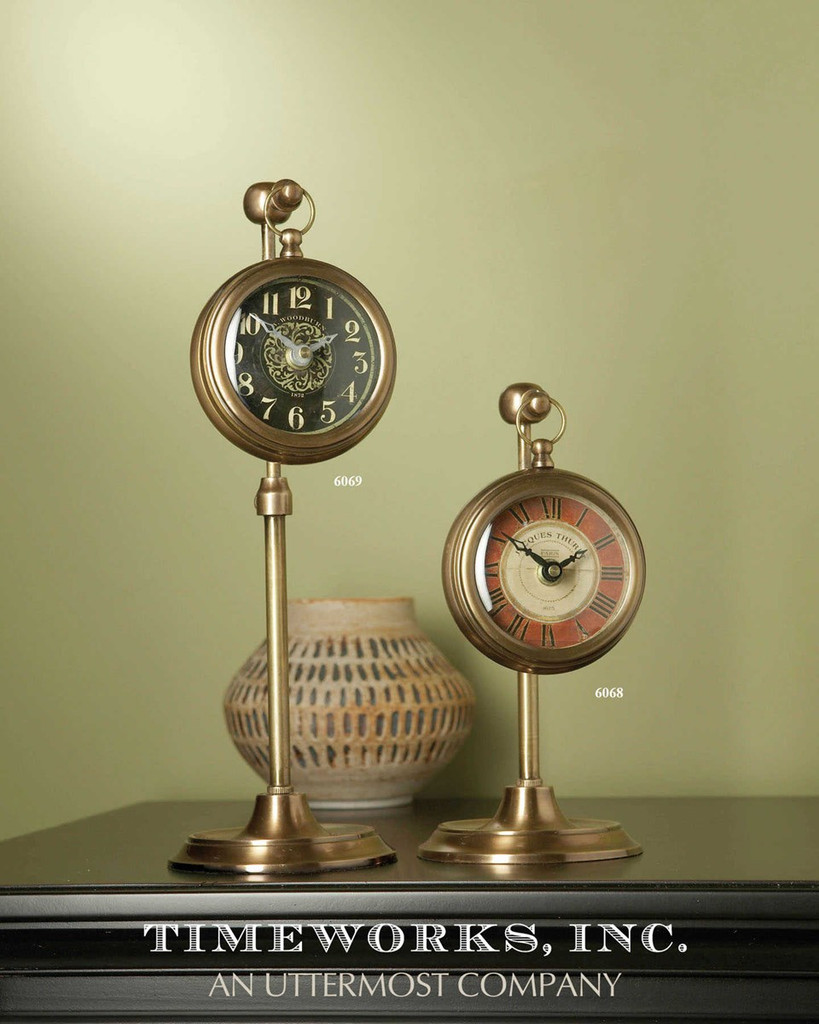 Pocket Watch Brass Woodburn by Uttermost