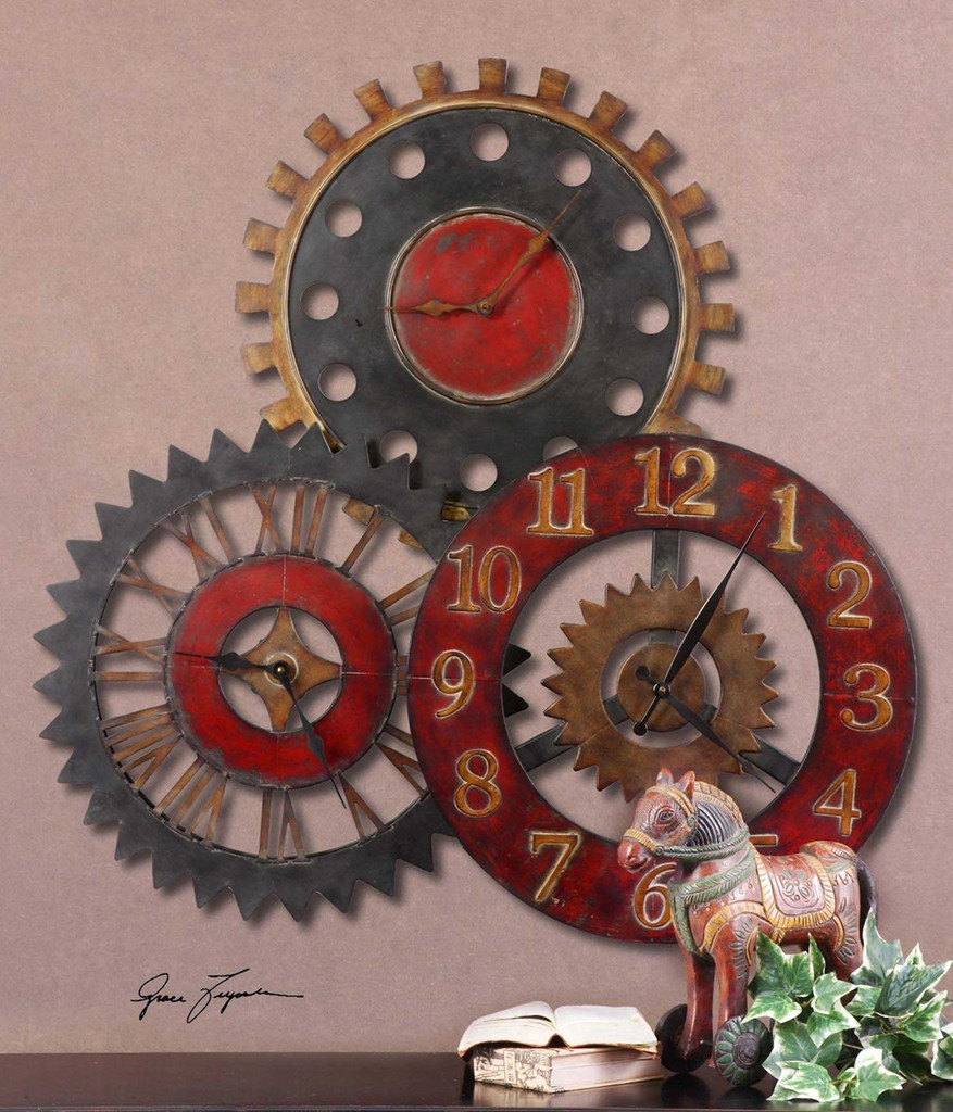 Rusty Movements Wall Clock by Uttermost