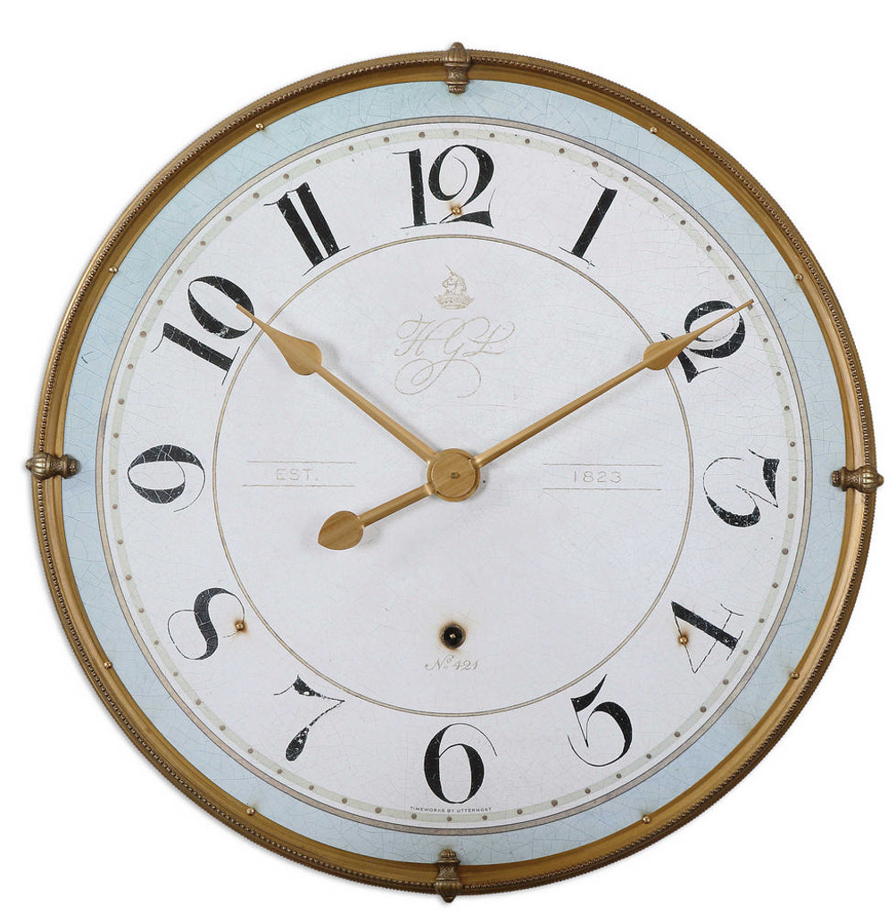 Torriana Wall Clock by Uttermost