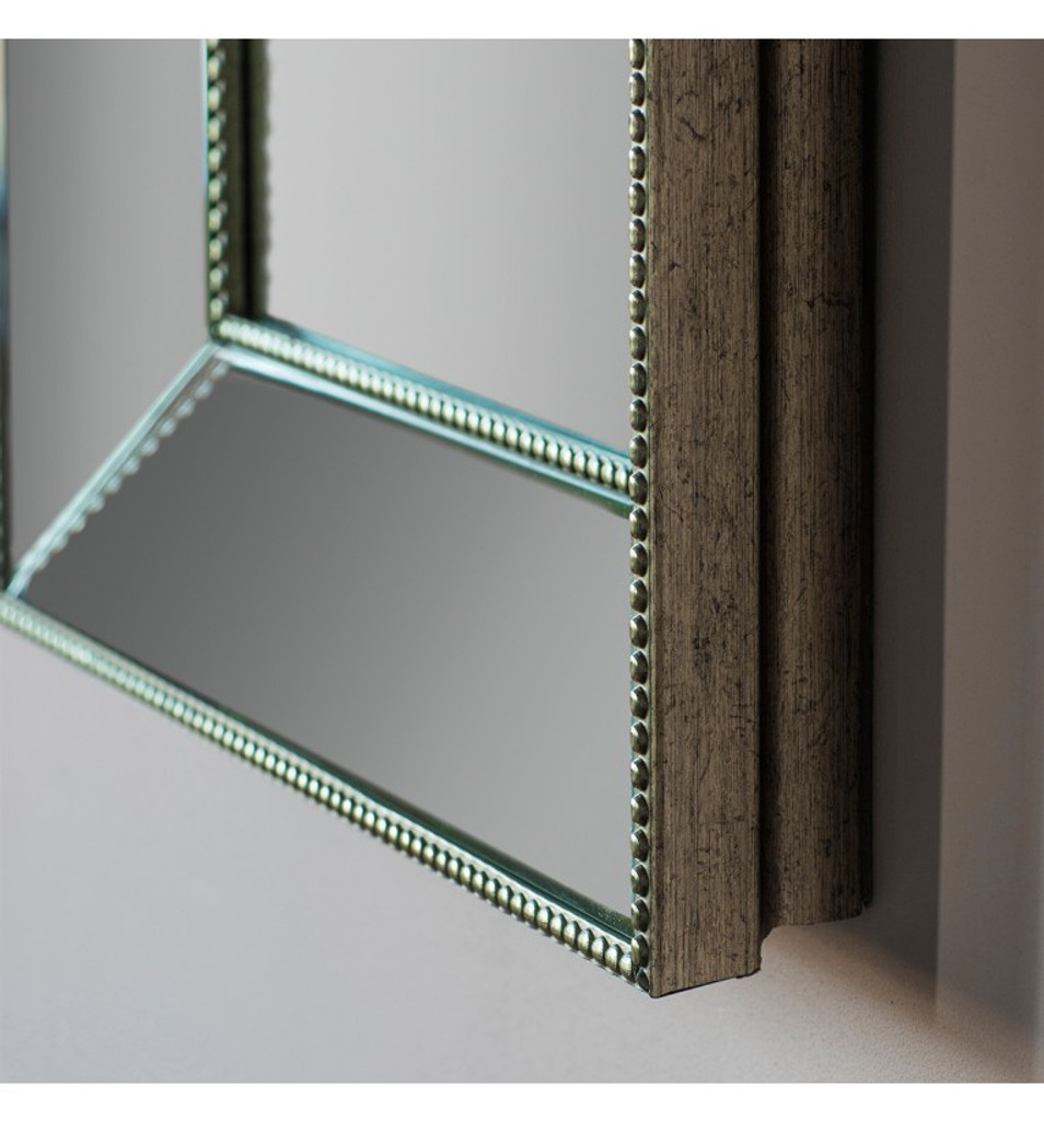 "Radley rectangle mirror 31x43"" - close up view of corner edge"