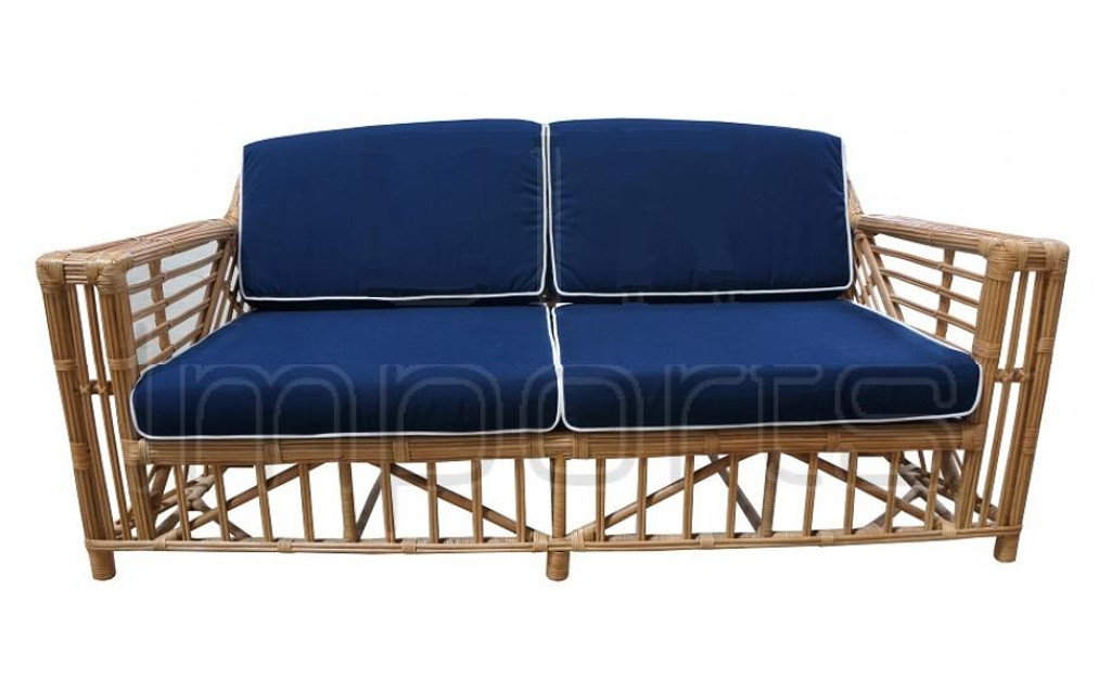 Ballina 2.5 Seater Sofa - Honey/Navy