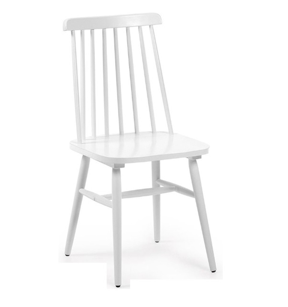 Kristie Wooden Chair - White