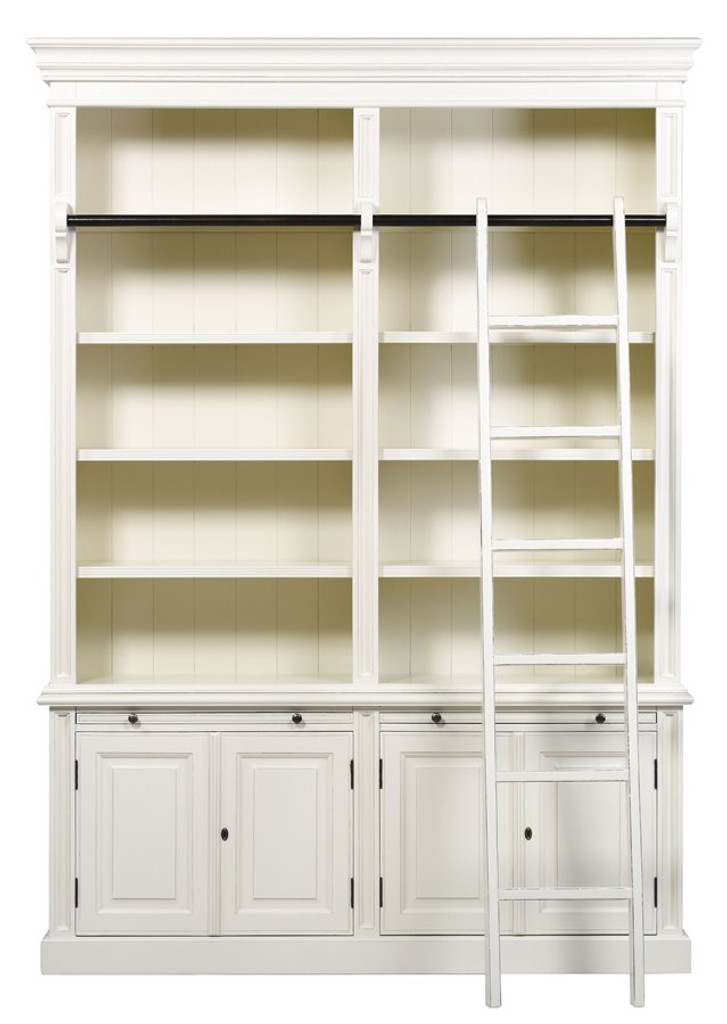 Bella House Classic 4 Door Bookcase + Ladder