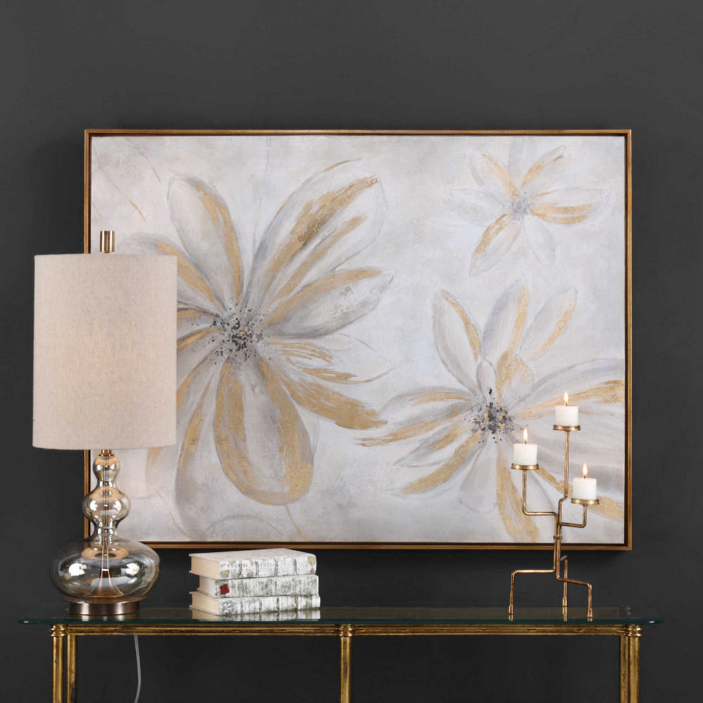 Daisy Stars Hand Painted Canvas by Uttermost