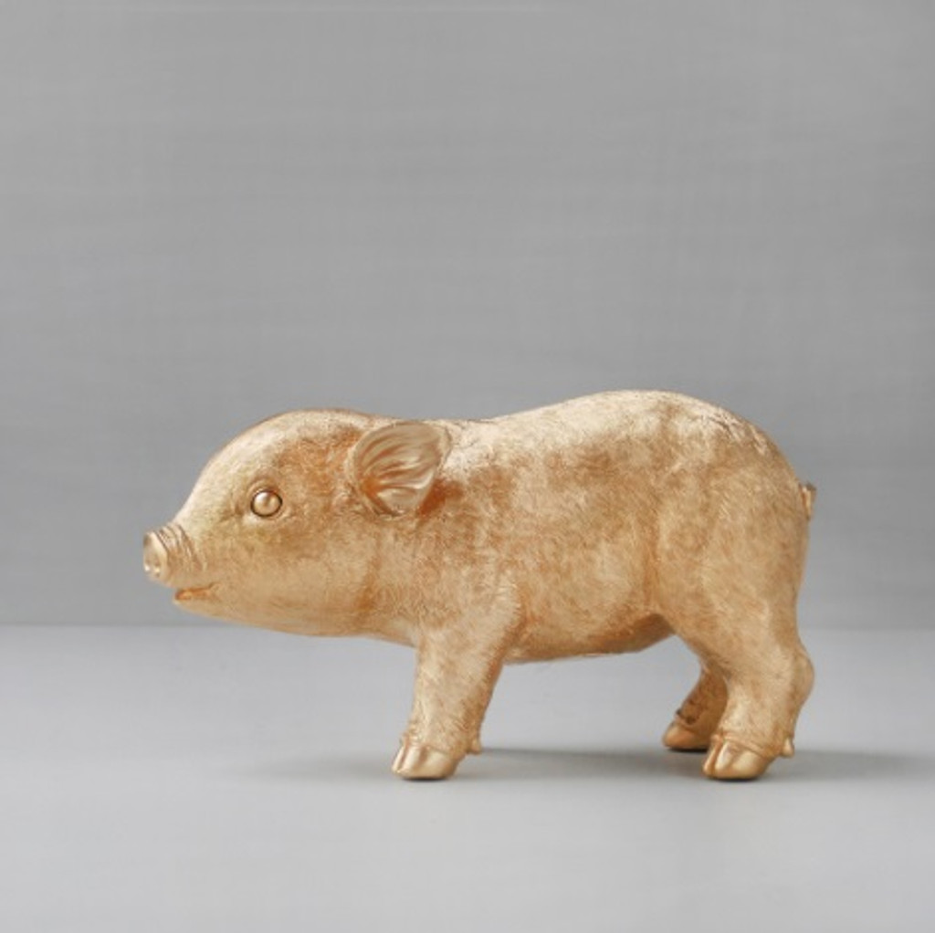 Pig Money Box - Gold