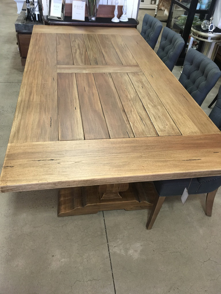 Provincial Trestle Dining Table (Wide) 240 x 120cm - Antique French Oak