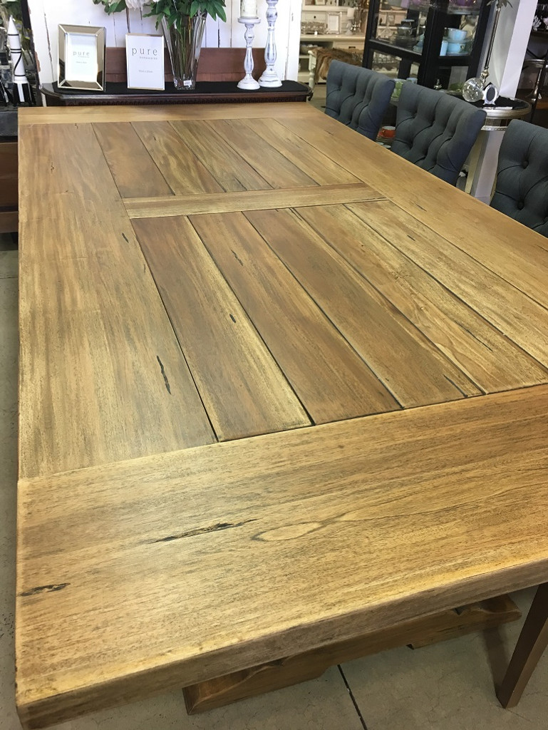 Provincial Trestle Dining Table - Antique French Oak
