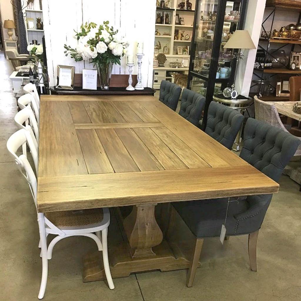 Provincial Trestle Dining Table 270cm - Antique French Oak