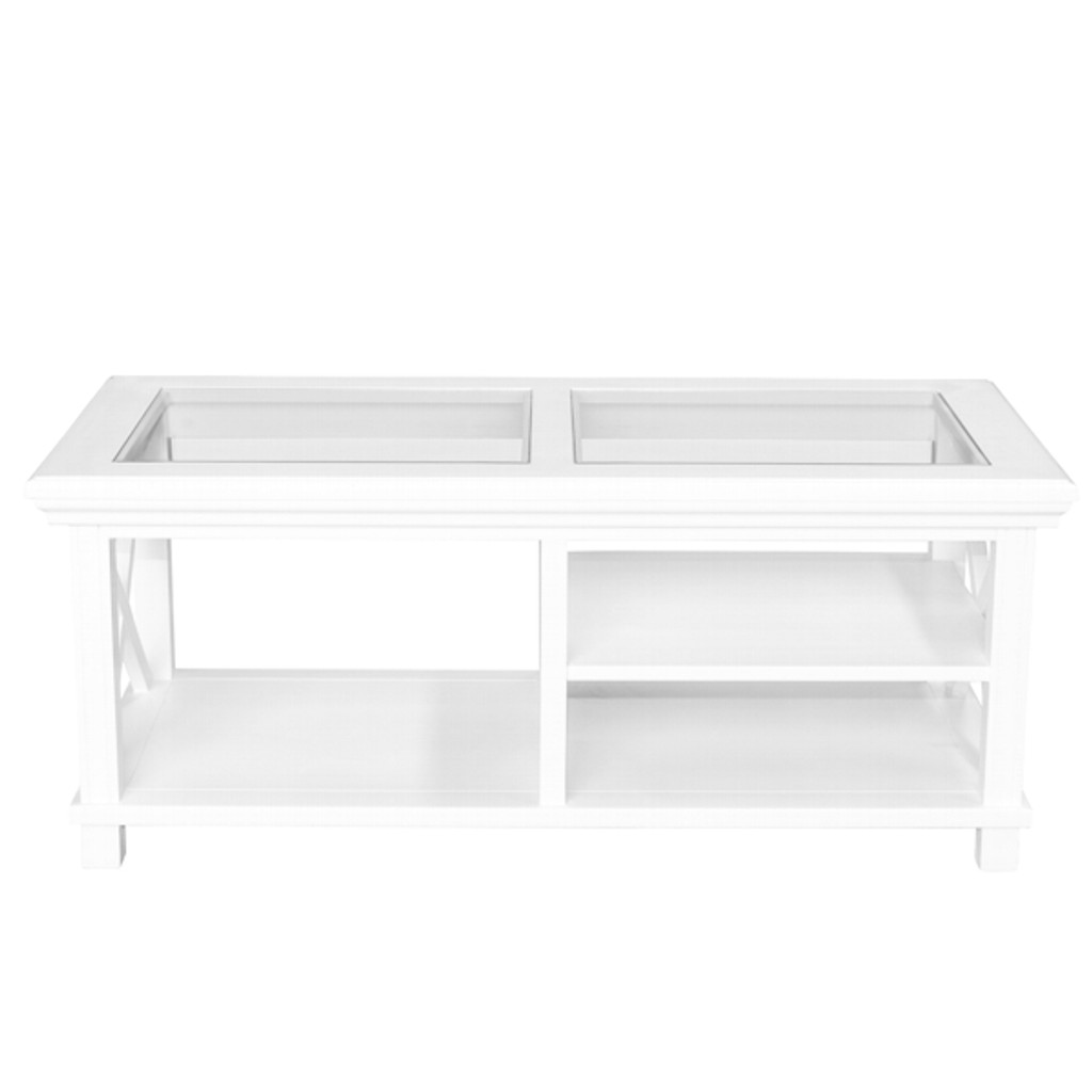 Hamptons Cross Coffee Table - White
