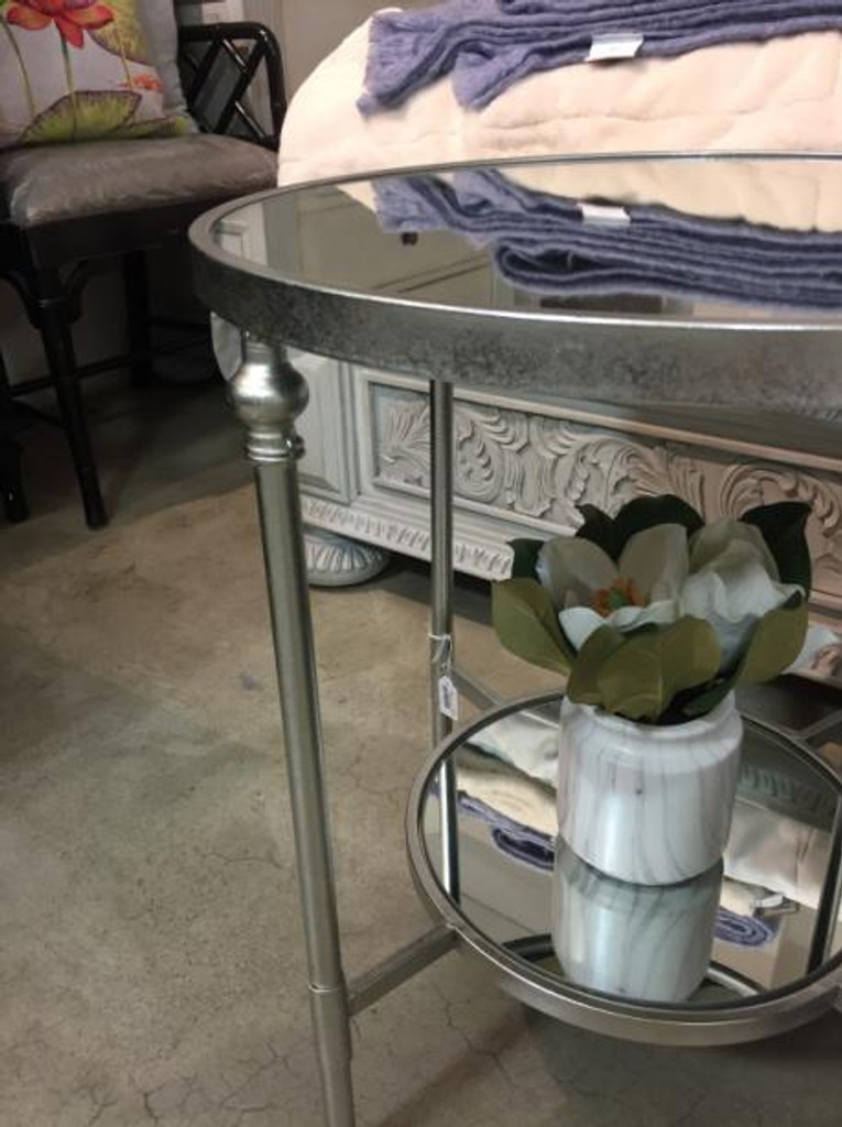 Bellport Mirrored Side Table