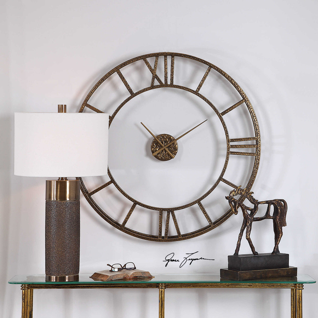Mylah Wall Clock by Uttermost