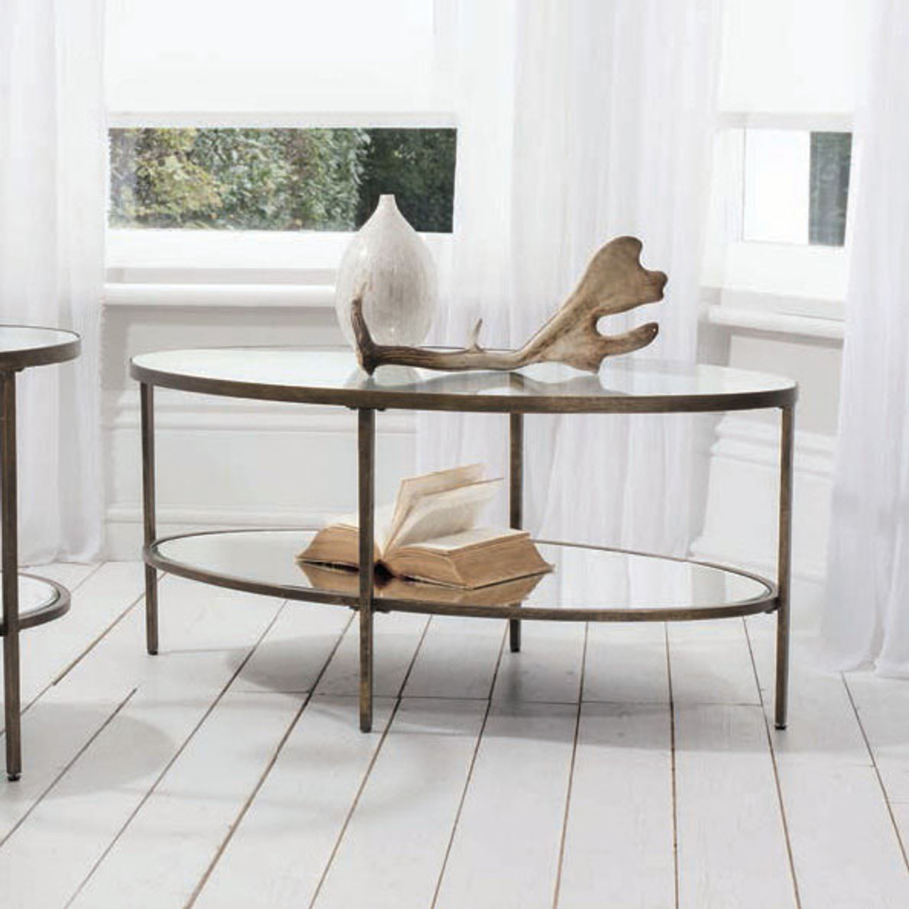Henley Glass Coffee Table Contemporary Furniture Maison Living