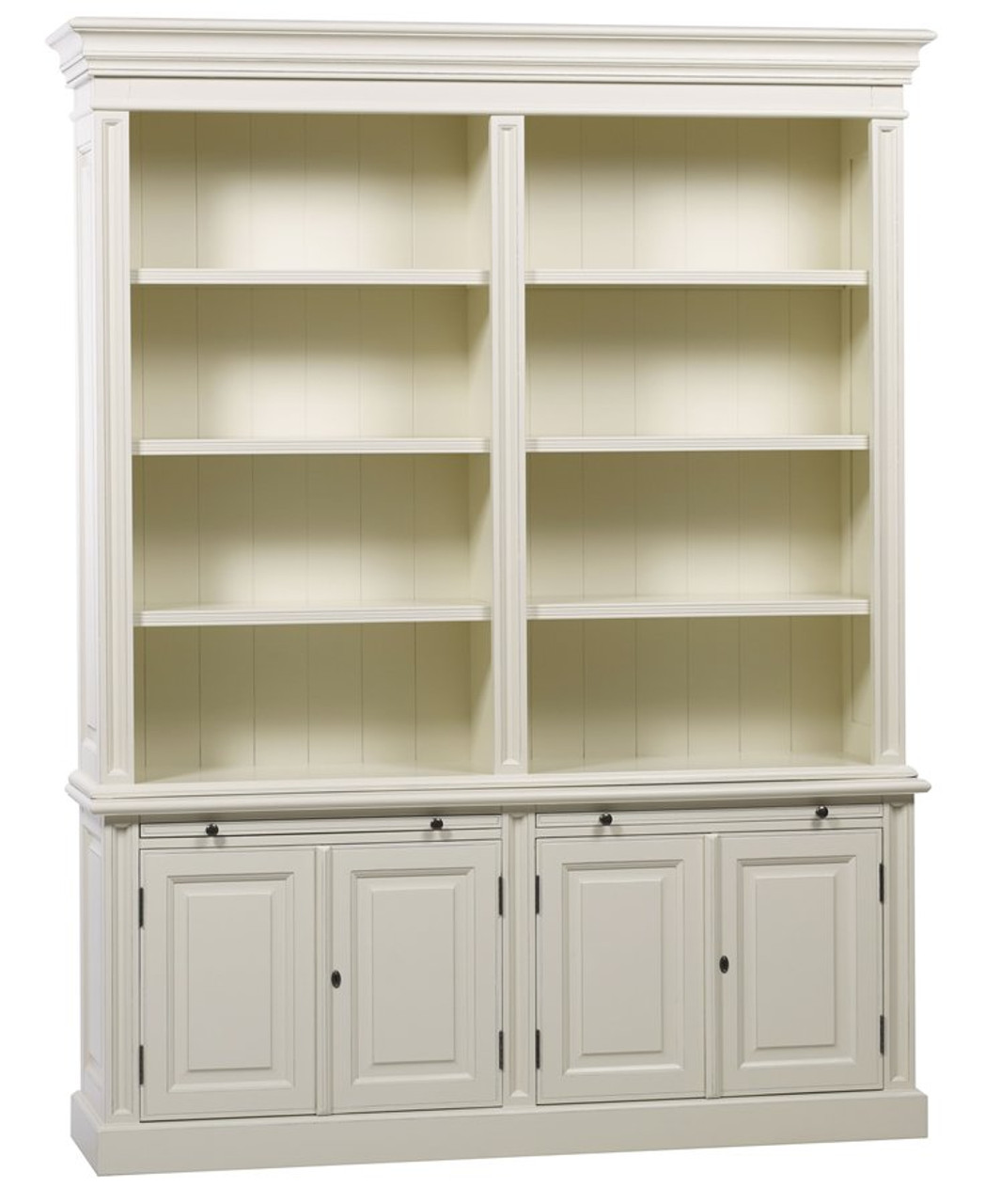 Classic 4 Door Bookcase Antique White