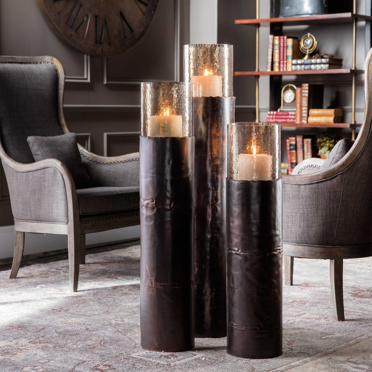 Rigina Large Floor Candleholder By Uttermost Maison Living