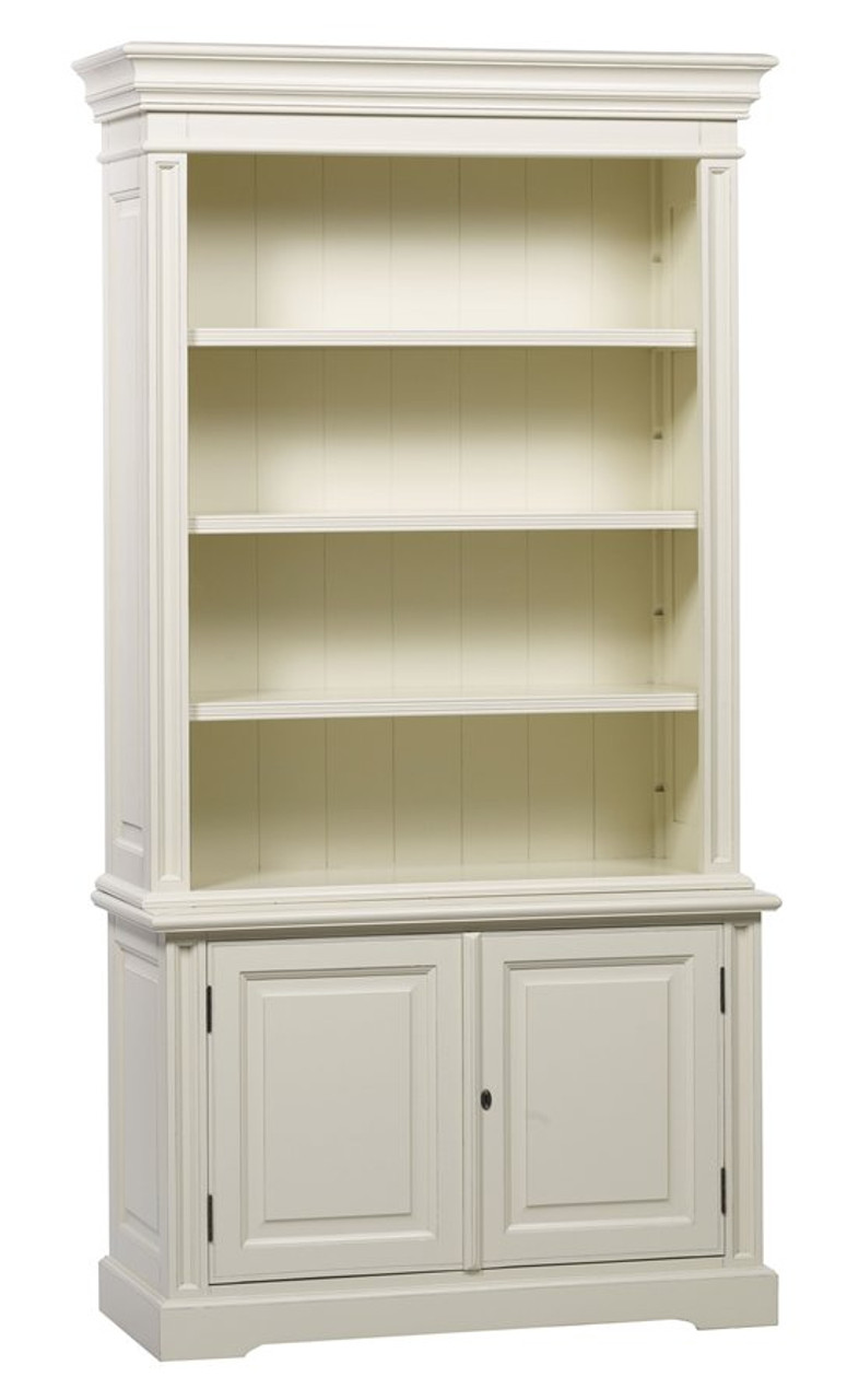 Classic 2 Door Bookcase Antique White
