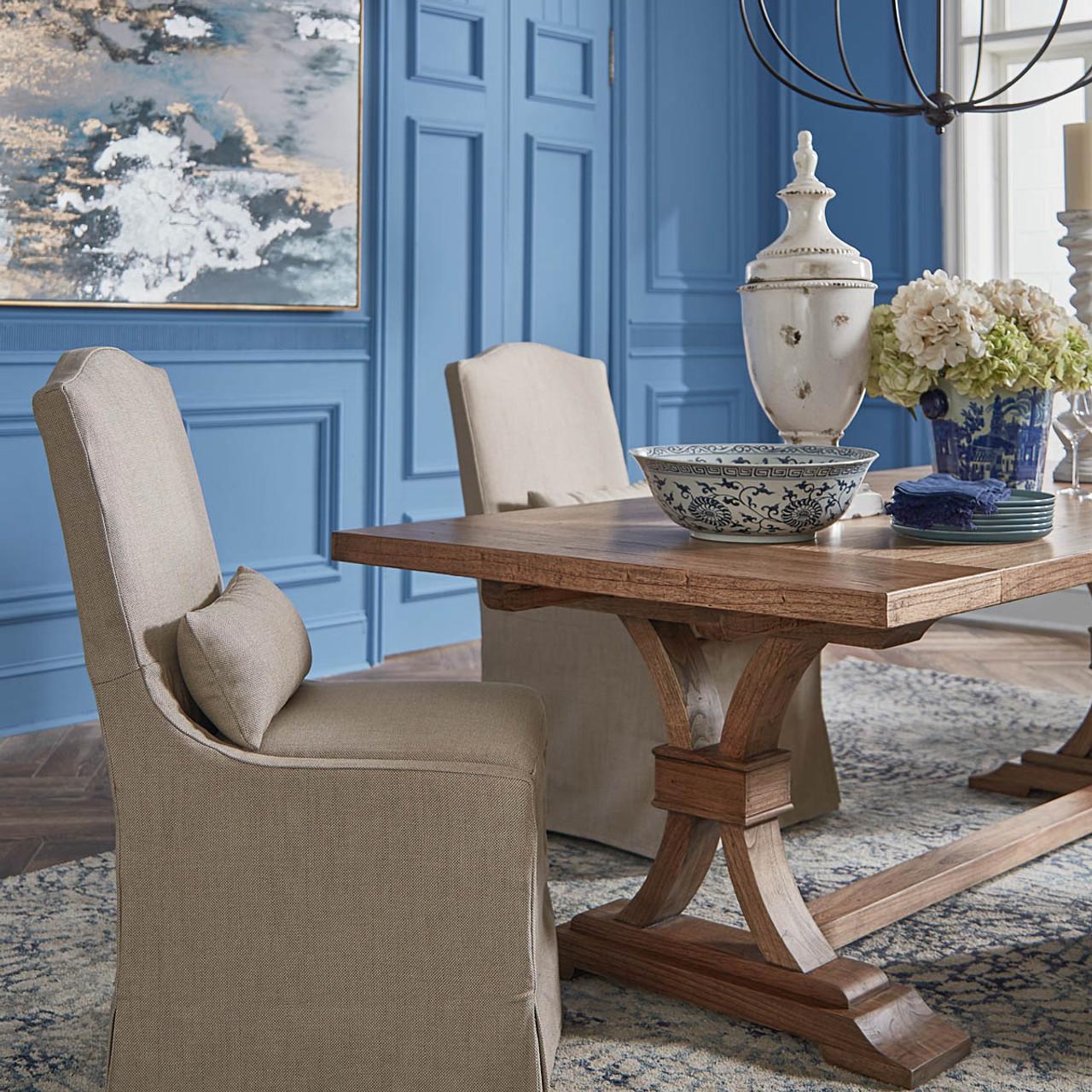 Tuscan Dining Table 240cm Mindi White Cedar Rustic Furniture