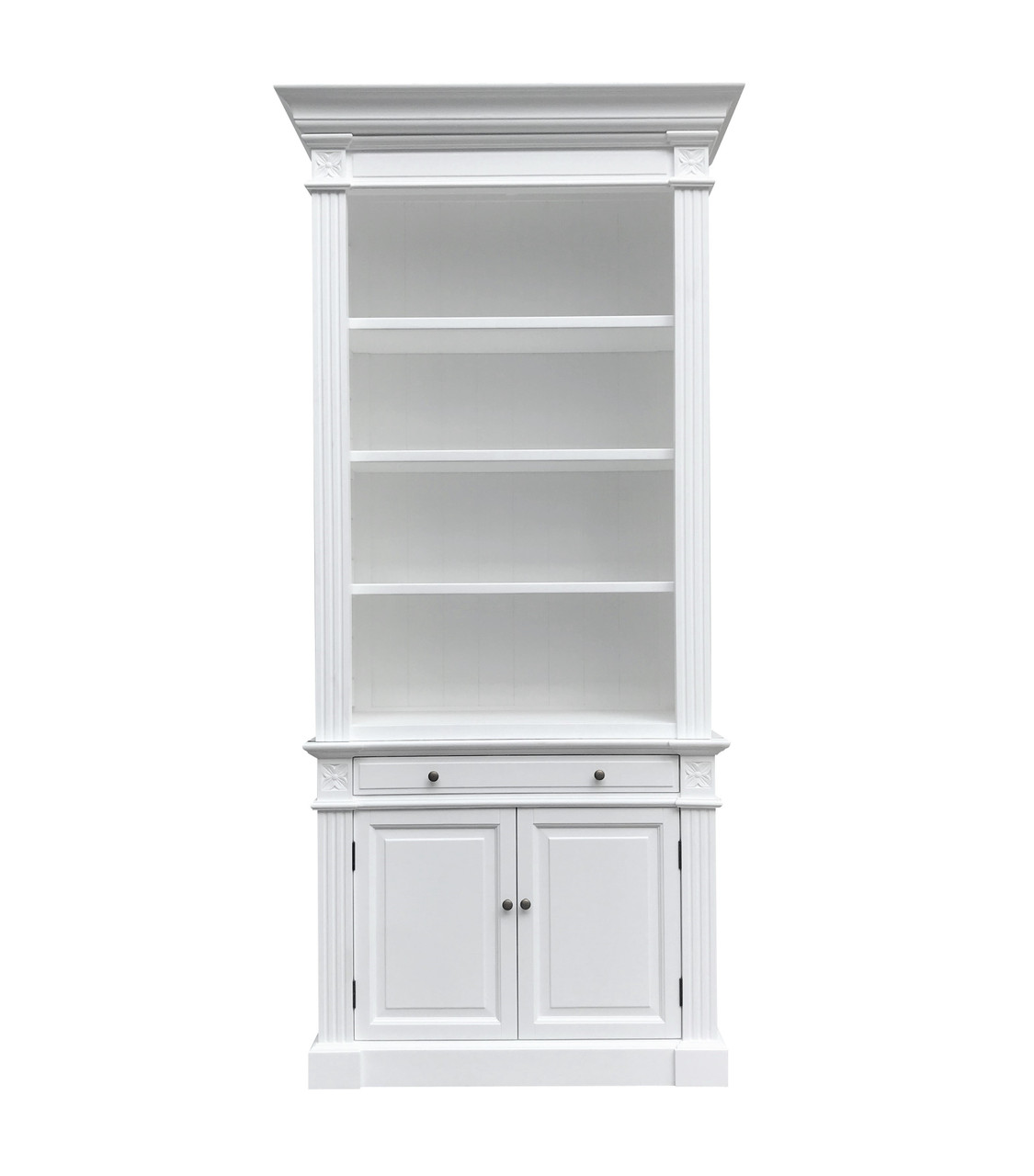 Reims Library Bookcase One Bay White