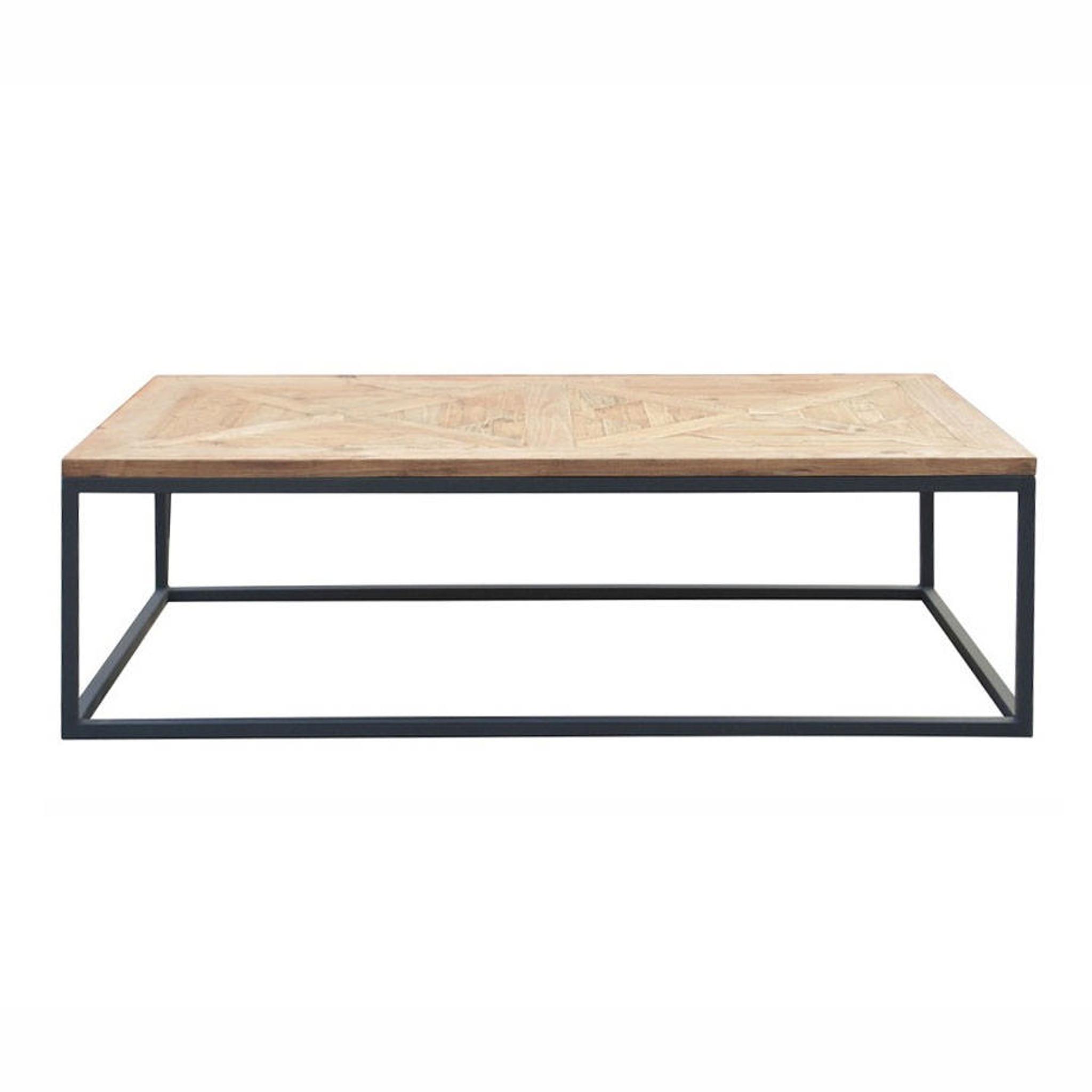 Reclaimed Wood Metal Coffee Table.Metal Parquet Coffee Table Reclaimed Wood