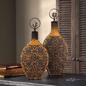 Katelyn Bottles S/2 by Uttermost