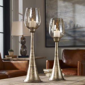 Badal Candleholders S/2 by Uttermost