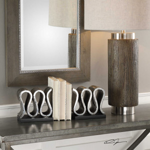 Kylo Bookends S/2 by Uttermost