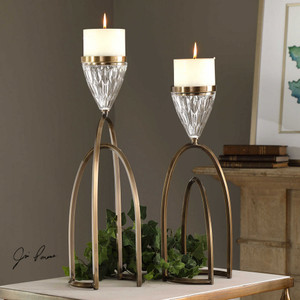 Carma Candleholders S/2 by Uttermost
