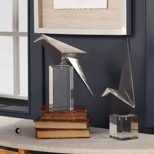 Origami Bird Figurines S/2 by Uttermost