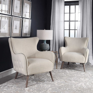 Donya Cream Accent Chair by Uttermost