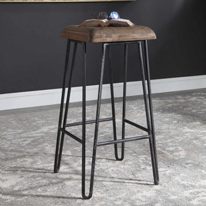 Albie Industrial Bar Stool by Uttermost