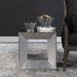 Flair Silver Cube Table by Uttermost