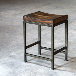 Beck Wood Counter Stool by Uttermost