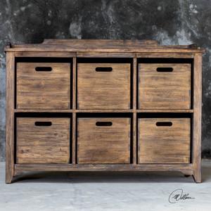 Ardusin Hobby Cupboard Driftwood by Uttermost