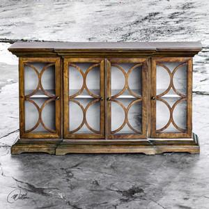 Belino 4 Door Cabinet Mist by Uttermost