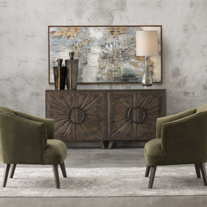Behind The Falls Hand Painted Canvas by Uttermost