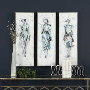 Styling Hand Painted Canvases S/3 by Uttermost