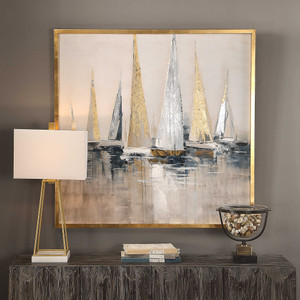 Regatta Hand Painted Canvas by Uttermost