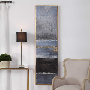 Winter Sea Scape Hand Painted Canvas by Uttermost