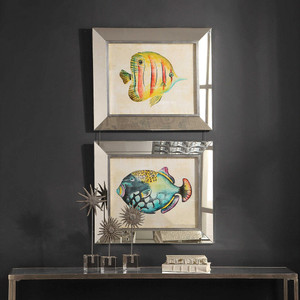 Aquarium Fish Framed Prints S/2 by Uttermost