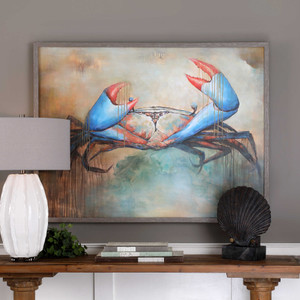 Sam The Crab Hand Painted Canvas by Uttermost