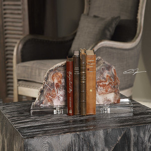 Pari Bookends S/2 by Uttermost