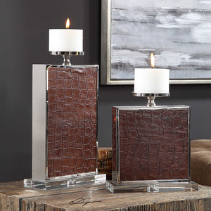 Nori Candleholders S/2 by Uttermost
